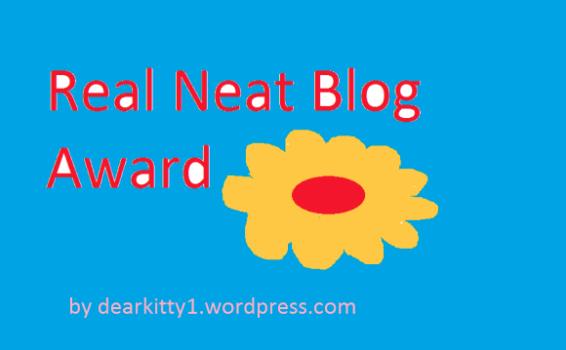 Real Neat Blog Award Nomination