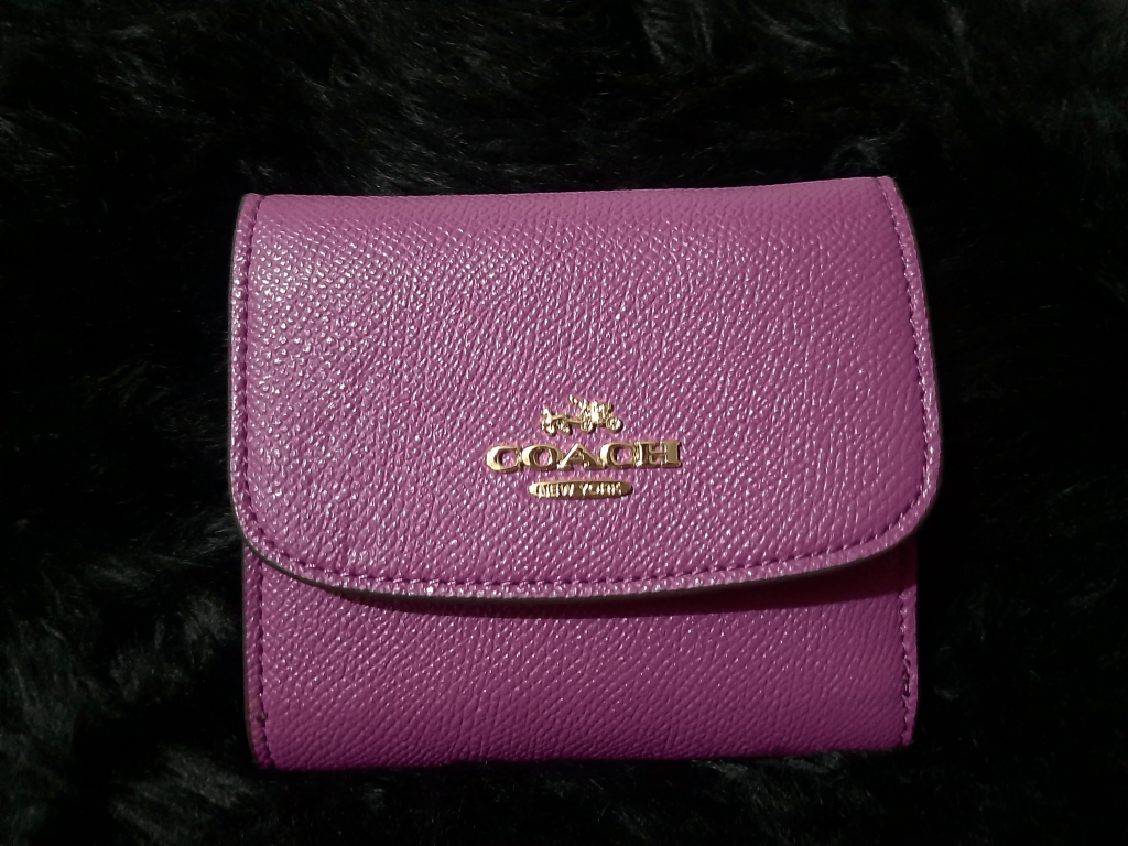 Coach Crossgrain Leather Small Trifold Wallet